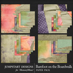 Barefoot on the Boardwalk Cardboard Papers-$2.40 (Jumpstart Designs)