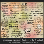 Barefoot on the Boardwalk WordArt Pack-$3.99 (Jumpstart Designs)