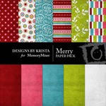 Merry Paper Pack-$3.49 (Designs by Krista)