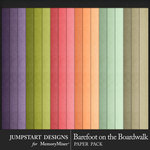 Barefoot on the Boardwalk Solid Paper Pack-$3.99 (Jumpstart Designs)