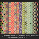 Barefoot on the Boardwalk Patterned Papers-$3.99 (Jumpstart Designs)