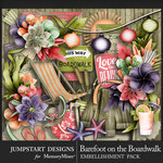 Barefoot on the Boardwalk Embellishments-$3.00 (Jumpstart Designs)