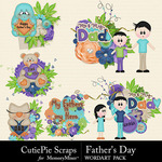 Fathers Day WordArt Pack-$2.99 (CutiePie Scraps)