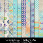 Fathers Day Messy Paper Pack-$2.99 (CutiePie Scraps)