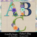 Fathers Day Monogram Pack-$3.49 (CutiePie Scraps)