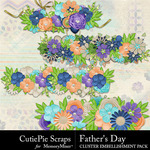Fathers Day Cluster Border Pack-$2.99 (CutiePie Scraps)
