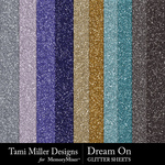 Dream on glitter sheets small