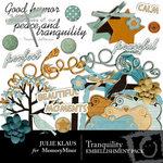 Tranquility Embellishment Pack-$2.99 (Julie Klaus)