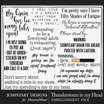Thunderstorm in my Head WordArt Pack-$3.99 (Jumpstart Designs)