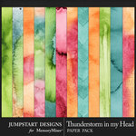 Thunderstorm in my Head Water Color Papers-$3.99 (Jumpstart Designs)