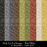 For Him Glitter Paper Pack-$1.99 (Ooh La La Scraps)