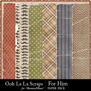 For him worn papers medium