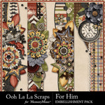 For Him Page Border Pack-$1.99 (Ooh La La Scraps)