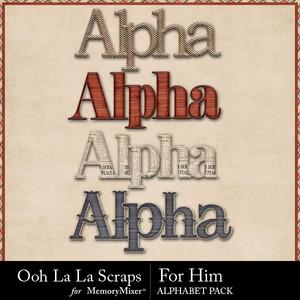 For him alphabets medium