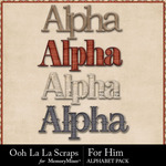 For Him Alphabet Pack-$3.49 (Ooh La La Scraps)