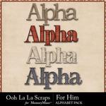 For Him Alphabet Pack-$3.49 (Ooh La La Scraps)