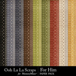 For Him Pattern Paper Pack-$1.99 (Ooh La La Scraps)
