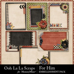 For Him Pocket Cards Pack-$1.99 (Ooh La La Scraps)
