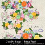 Spring Fresh CPS Cluster Borders-$2.99 (CutiePie Scraps)