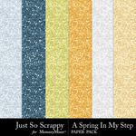 Spring in my step glitter papers small