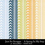 Spring In My Step Pattern Paper Pack-$1.99 (Just So Scrappy)