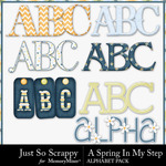 Spring In My Step Alphabet Pack-$3.49 (Just So Scrappy)