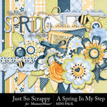 Spring In My Step Mini Kit-$2.99 (Just So Scrappy)