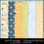 Spring In My Step Worn Paper Pack-$1.99 (Just So Scrappy)