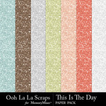 This Is The Day Glitter Paper Pack-$1.99 (Ooh La La Scraps)