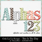 This Is The Day Alphabet Pack-$3.49 (Ooh La La Scraps)