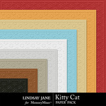 Kitty Cat Embossed Paper Pack-$1.99 (Lindsay Jane)