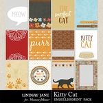 Kitty Cat Journal Cards Pack-$1.99 (Lindsay Jane)