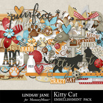 Kitty Cat Embellishment Pack-$3.49 (Lindsay Jane)