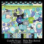 Baby Boy Arrival Combo Pack-$4.99 (CutiePie Scraps)