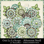 Afternoon Stroll Layered Flowers-$1.99 (Ooh La La Scraps)
