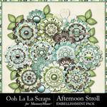 Afternoon Stroll Layered Flowers-$1.99 (Ooh La La Scraps)