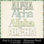 Afternoon Stroll Alphabet Pack-$3.49 (Ooh La La Scraps)