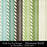 Afternoon Stroll Pattern Papers-$1.40 (Ooh La La Scraps)