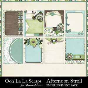 Afternoon stroll pocket scrap cards medium