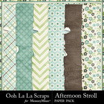 Afternoon Stroll Worn and Torn Papers-$1.40 (Ooh La La Scraps)