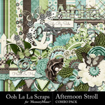 Afternoon Stroll Combo Pack-$4.99 (Ooh La La Scraps)