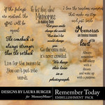Remember Today WordArt Pack-$3.49 (Laura Burger)