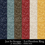 Let Freedom Ring Glitter Paper Pack-$1.40 (Just So Scrappy)