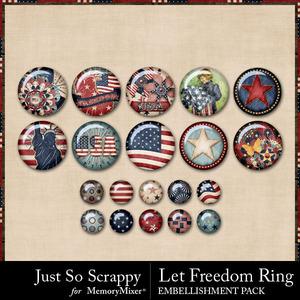 Let freedom ring flairs medium