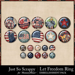 Let Freedom Ring Flairs Pack-$1.40 (Just So Scrappy)