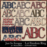 Let Freedom Ring Alphabet Pack-$2.80 (Just So Scrappy)