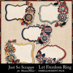 Let Freedom Ring Journal Clusters Pack-$1.99 (Just So Scrappy)
