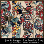 Let Freedom Ring Page Borders Pack-$1.40 (Just So Scrappy)