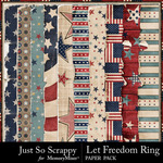 Let Freedom Ring Worn Paper Pack-$1.40 (Just So Scrappy)