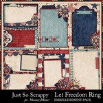 Let freedom ring pocket cards small